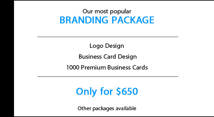 NubzDesign Branding Package - Logo Design, Business card design, Postcard Design, Printing