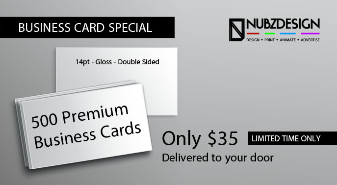 Business Card Printing Special